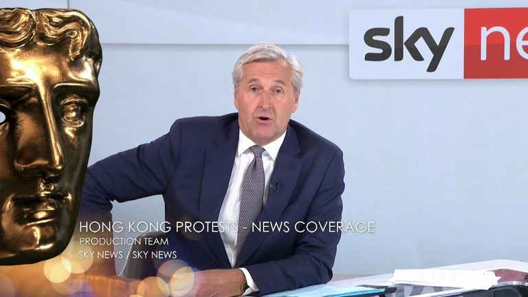 Sky News wins a BAFTA