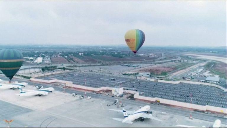hot air balloons, israel