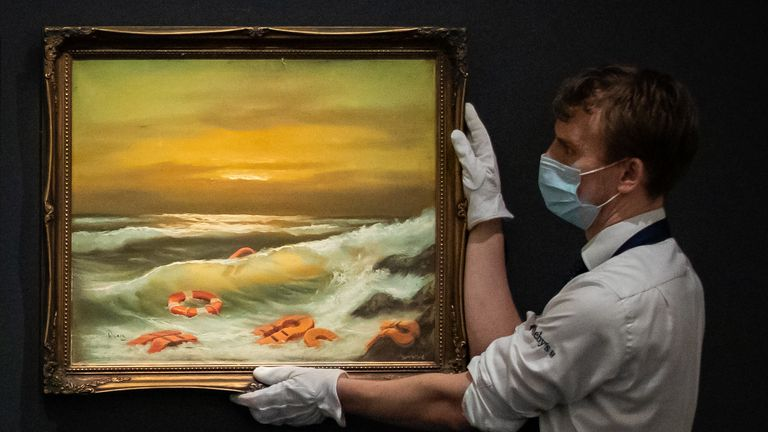 The reworked oil paintings, in three parts, are worth up to £1.2m