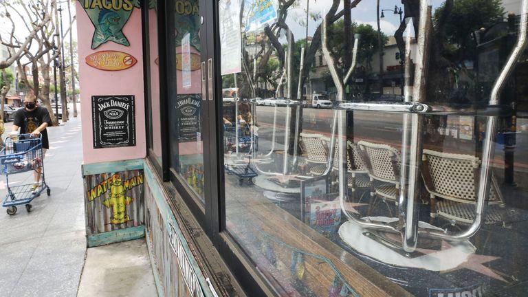 Bar closed on Hollywood Boulevard