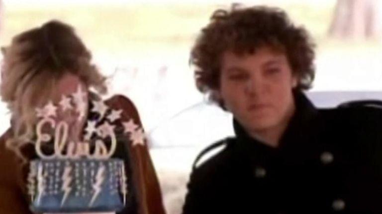 Lisa Marie Presley's son and Elvis Presley's grandson, Benjamin Keough