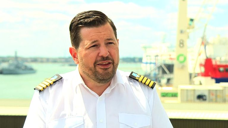 Portsmouth harbourmaster Ben McInnes worked at sea for 12 years