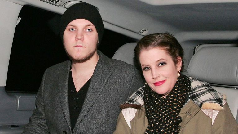 Benjamin Keough pictured with his mother, Lisa Marie Presley, in 2012