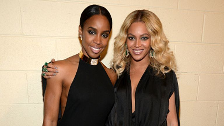 Kelly Rowland and Beyonce are pictured together in Las Vegas in 2015