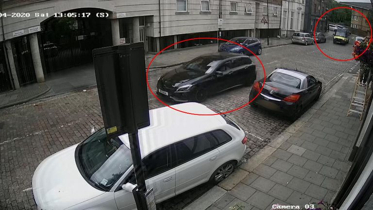 CCTV images show Williams' car being followed by Met police officers