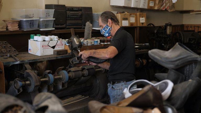 Bill Cotter owns Manhattan Shoe Repair