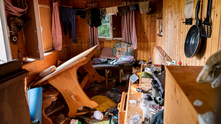 Rausch sought shelter in a hut in the Black Forest