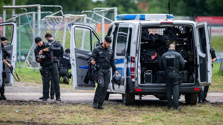 Hundreds of officers were initially involved in the manhunt