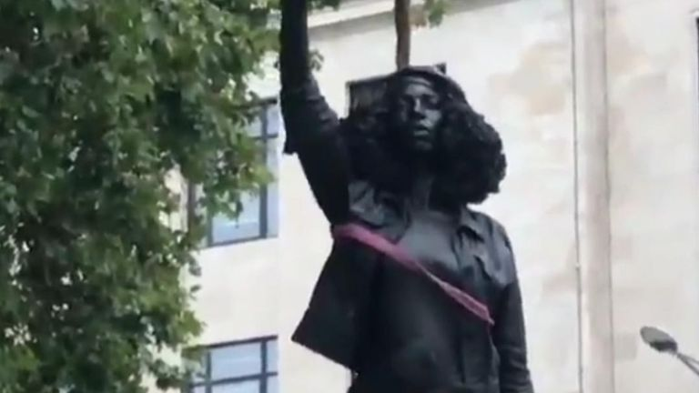 BLM statue removed