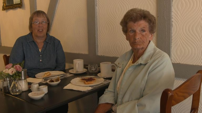 Pauline and her mum Dot think things in Blyth will be 'very hard'