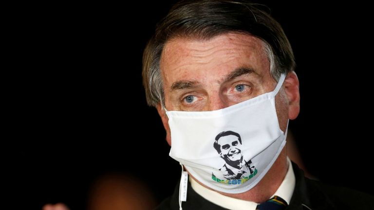 Jair Bolsonaro says his condition has improved since having treatment