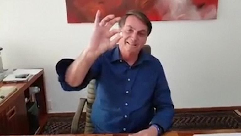 Brazil's president Jair Bolsonaro takes hydroxychloroquine as COVID-19 treatment after revealing he has coronavirus