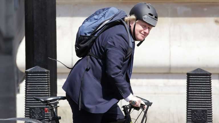 The PM, who is a keen cyclist, is unveiling a strategy to improve Britons' health