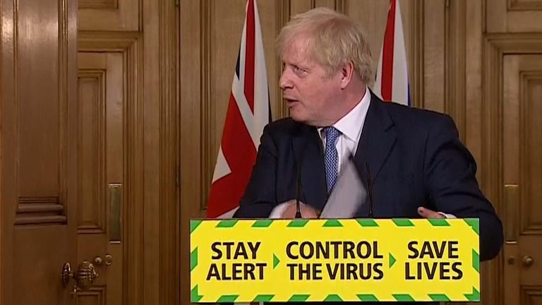 Boris Johnson speaks at coronavirus news conference