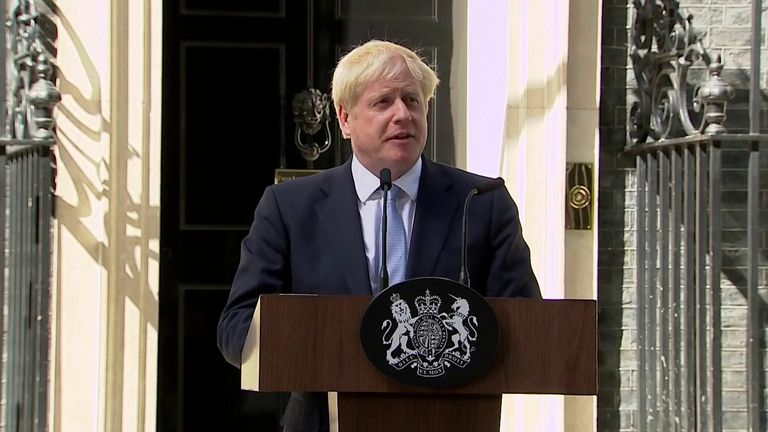 Boris Johnson became prime minister 24 july 2019