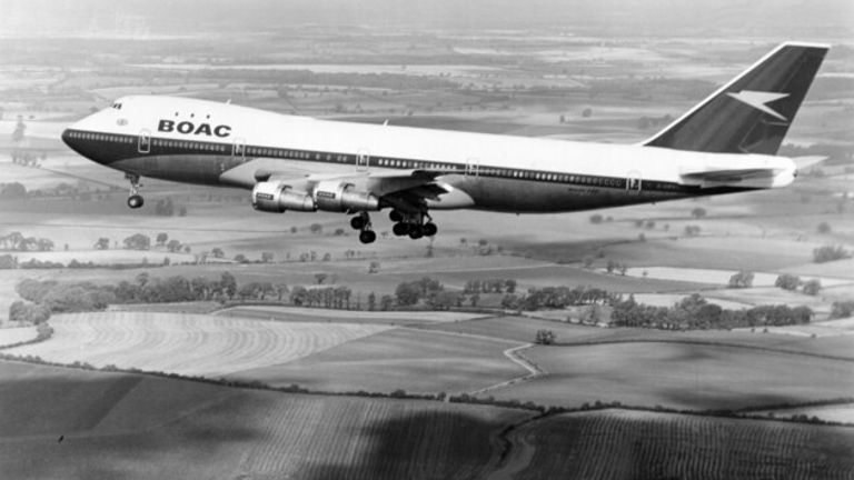 A 747 flown when BA was known as BOAC
