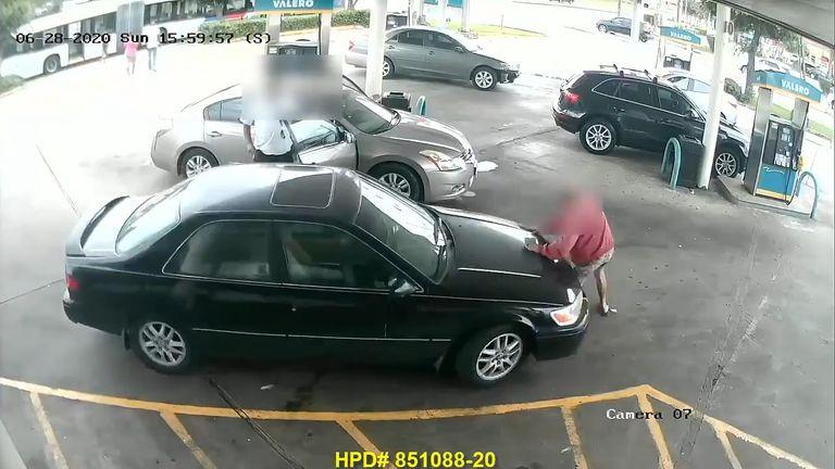 man run over in houston