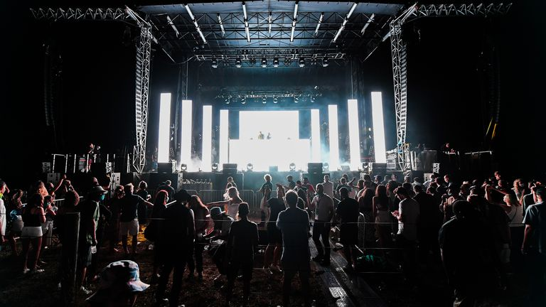 Concert-goers have been accused of not following social distancing rules