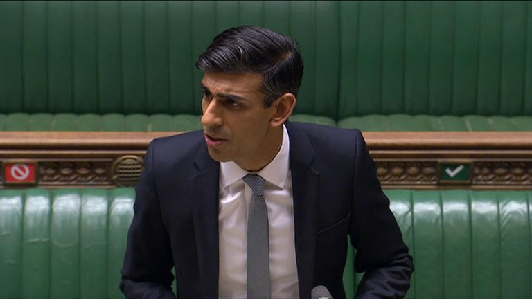 Chancellor of the Exchequer Rishi Sunak makes a statement outlining policies aimed at UK's economic recovery from the COVID-19 pandemic