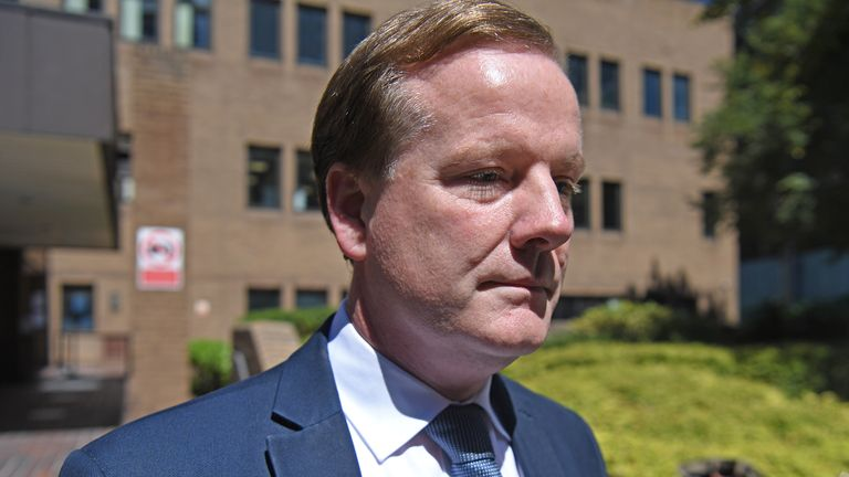 Charlie Elphicke leaves Southwark Crown Court