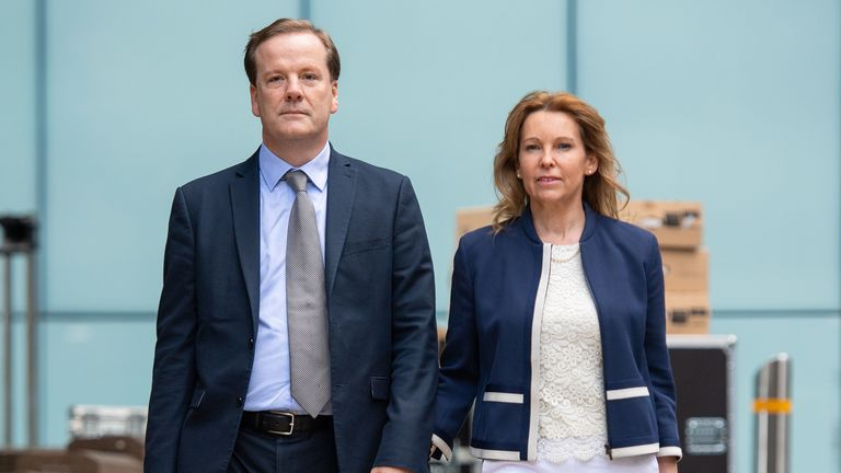 Former Conservative MP Charlie Elphicke, with his wife, MP for Dover Natalie Elphicke