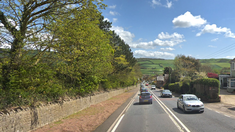 Chideock Hill in Dorset was found to have the highest NO2 levels. Pic: Google
