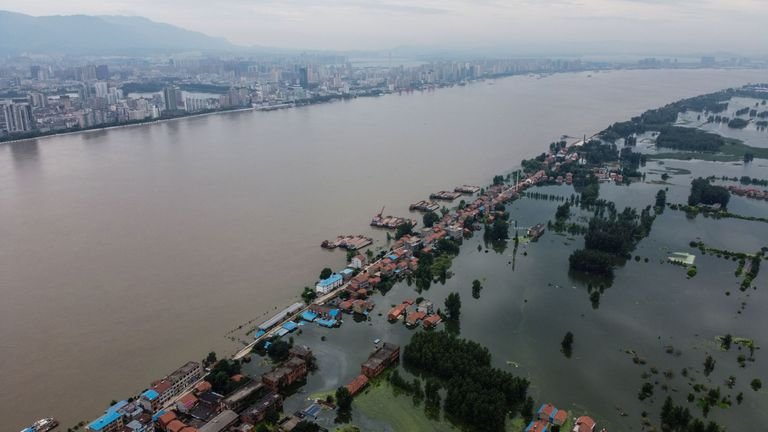 Vast swathes of China have been inundated by the worst flooding in decades along the Yangtze river
