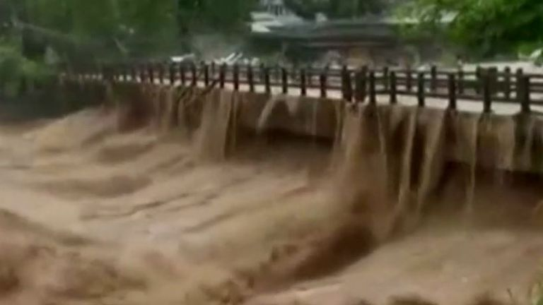 Parts of China battling extreme flooding