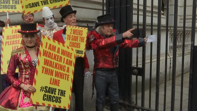 The Association of Circus Proprietors delivered a letter to Downing St to ask for more support during the COVID-19 pandemic
