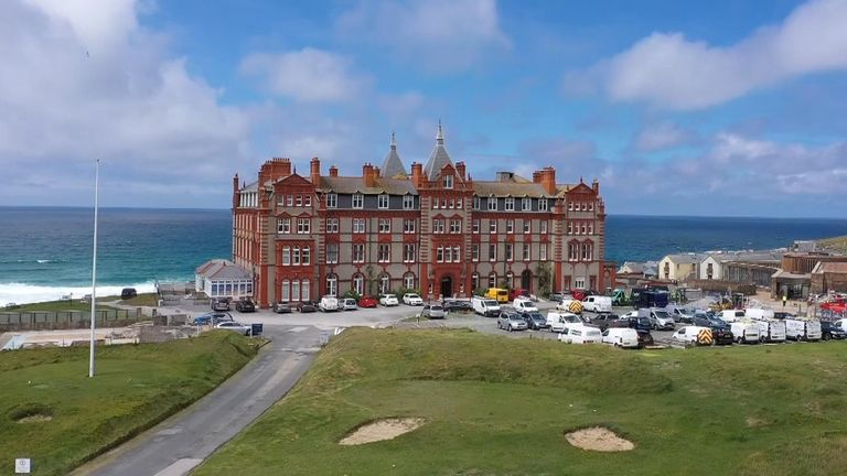 The Headland Hotel in Newquay is preparing to welcome back guests