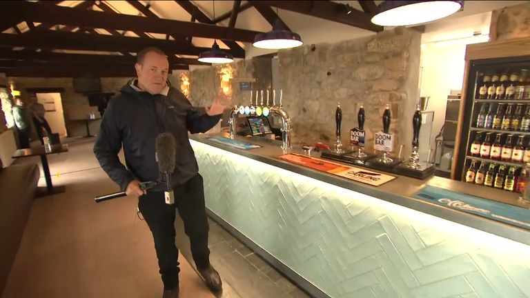 Sky News visits St Ives in Cornwall as pubs gear up for punters