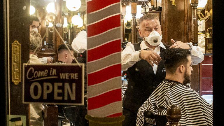 Cambridge Barbershop on Belfast's Lisburn Road opened at 00.01 on Monday