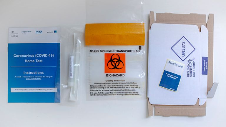 The NHS home testing kit