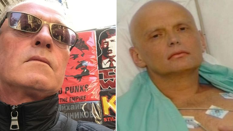 Derek Conlon (left) and Alexander Litvinenko