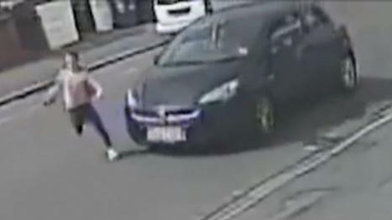 Devon Cornwall Police release video of girl being hit by car.