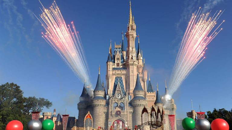 The Magical Kingdom has opened its doors, but parades and fireworks are off the menu