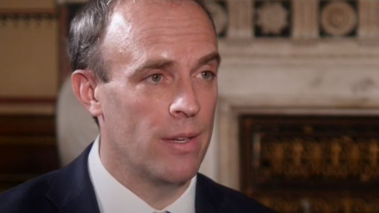 Dominic Raab skirts around issue of Jamal Khashoggi and Saudi Arabia