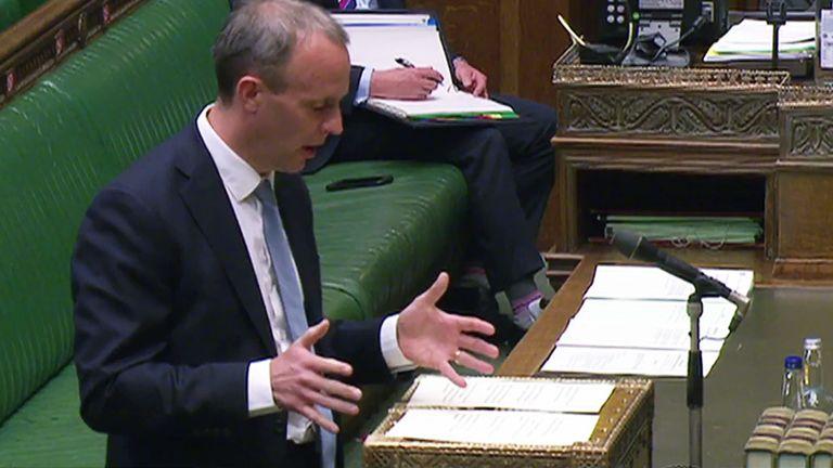 Foreign Secretary Dominic Rabb MP