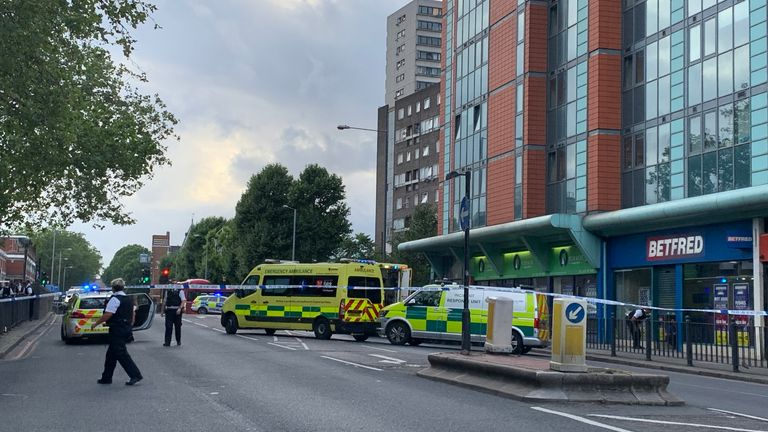The child was rushed to hospital. Pic: Paul Michael Woodman