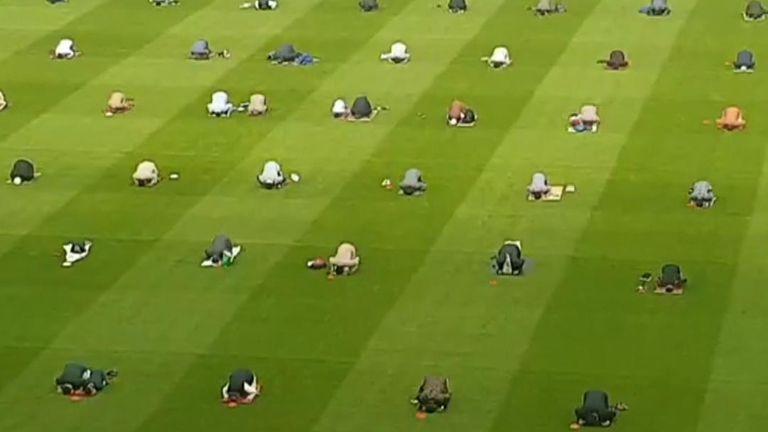 Muslims celebrate Eid in Croke Park stadium, Dublin