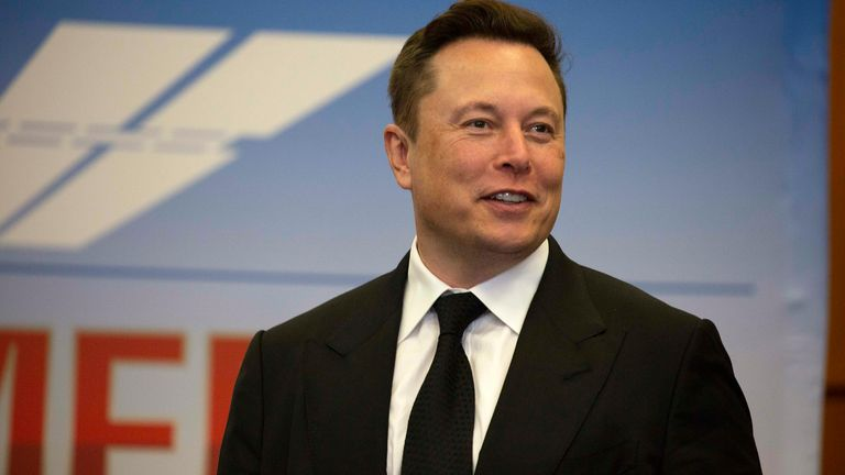 Elon Musk, Founder and CEO of SpaceX, attends a press conference on May 27, 2020 at the Kennedy Space Center in Cape Canaveral, Florida.
