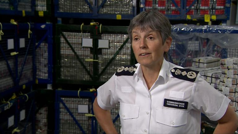 Met police commissioner Dame Cressida Dick said the raids hit organised crime 'where it hurts most'