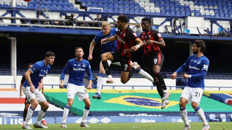 Dominic Solanke scored for Bournemouth in their 3-1 win over Everton