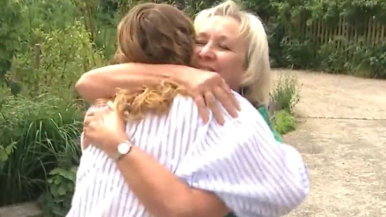Family's joy at being reunited after months of separation due to lockdown restrictions