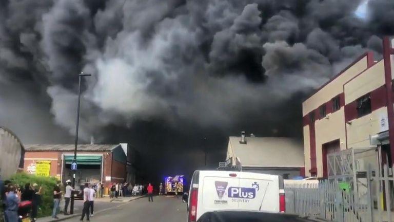 Fire breaks out in West London