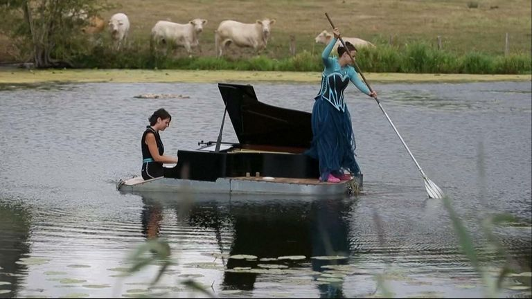 A floating piano show has been able to take place, despite earlier cancellations due to COVID-19.