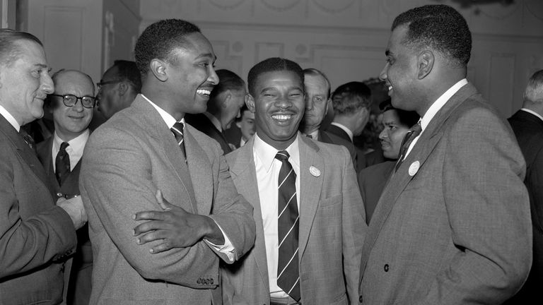 (L-R) Frank Worrell, Everton Weekes and Clyde Walcott