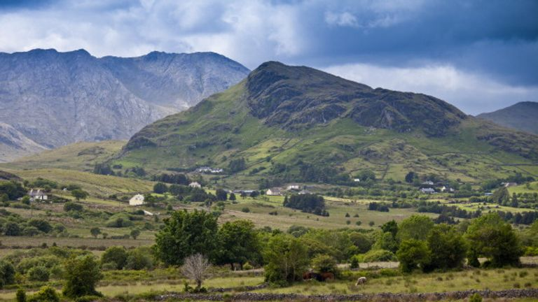 The Maamturk mountains in Co Galway - Ireland is one of the few European countries that Americans can currently visit