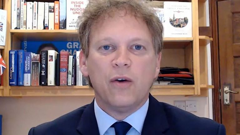 Grant Shapps says Stanley Johnson could go to Greece, because government only issued advice on travel, not instruction