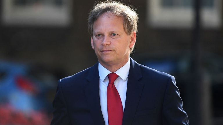 The Transport Secretary, Grant Shapps, is currently on holiday in Spain himself and may have to quarantine when he returns